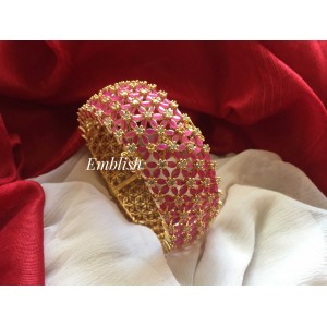 Ruby Ad crystal  openable bangle